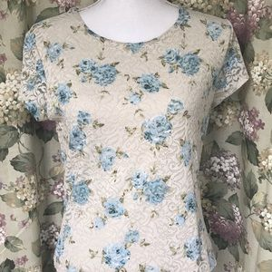 Kate Hill Lace Flower Blouse